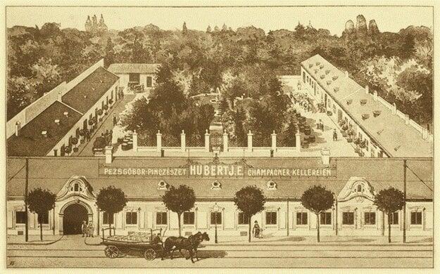 Archívna fotografia vinárstva Hubert J.E. so sídlom v Bratislave
