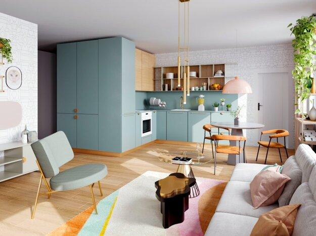 Apartmán v projekte BLoKK hýri sviežimi farbami a netradičnými nápadmi.
