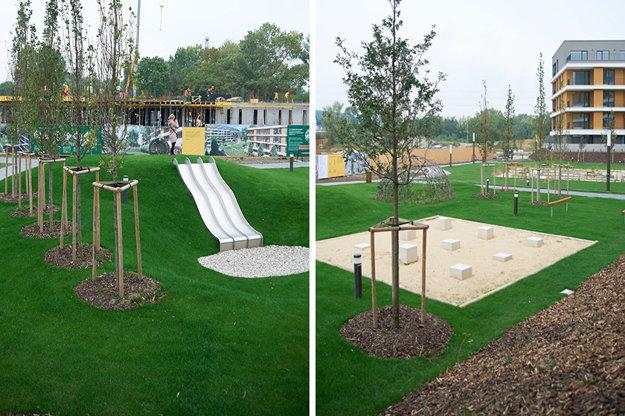 Rezidenčný park v projekte Nový Ružinov