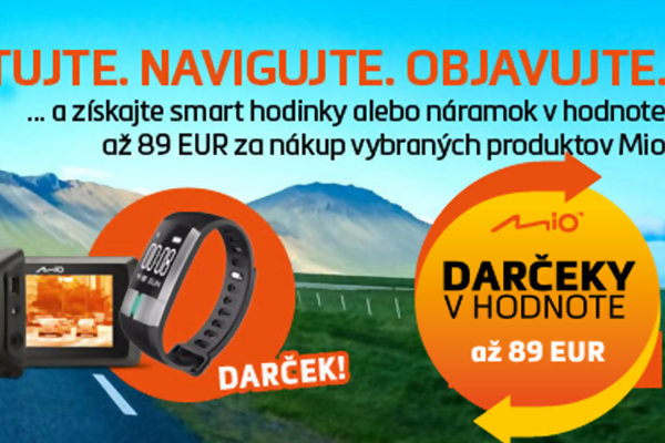 Chytré hodinky nebo náramek zdarma teď k produktům MIO!