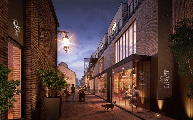 Mestská atmosféra: Premyslený koncept vytvorí priestor pre spoločenský život.