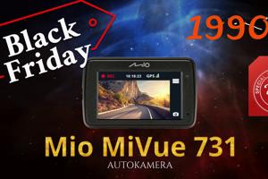 Speciální novinku s výraznou slevou si pro letošní Black Friday přichystalo Mio, výrobce značkových autokamer a navigací. Až do konce listopadu bude nová Mio MiVue 731 GPS v eshopech ALZA, CZC a MALL se slevou 23 % včetně DPH, a to jak na českém, tak i slovenském trhu.