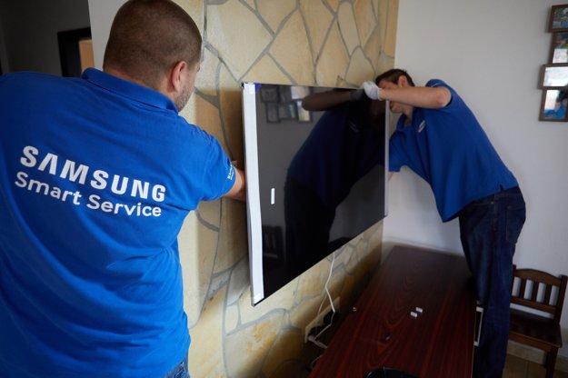 Inštalácia Samsung QLED TV v rámci akcie Vymeň QLED za OLED