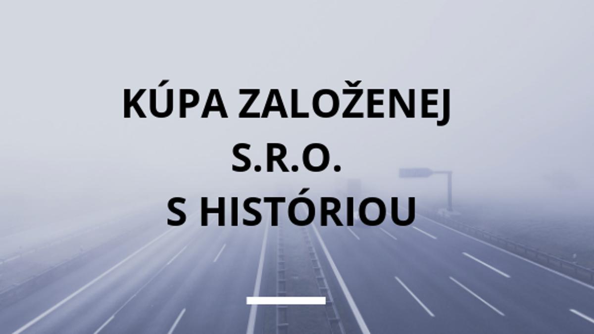 1ac36f11c Kúpa založenej s.r.o. s históriou - tlacovespravy.sme.sk
