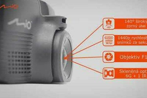 Autokamera Mio MiVue 751 se skvělým 2.5k záznamem a GPS