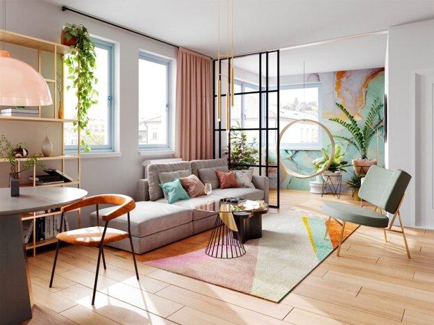 Apartmán v projekte BLoKK disponuje pracovným či čitateľským kútikom.