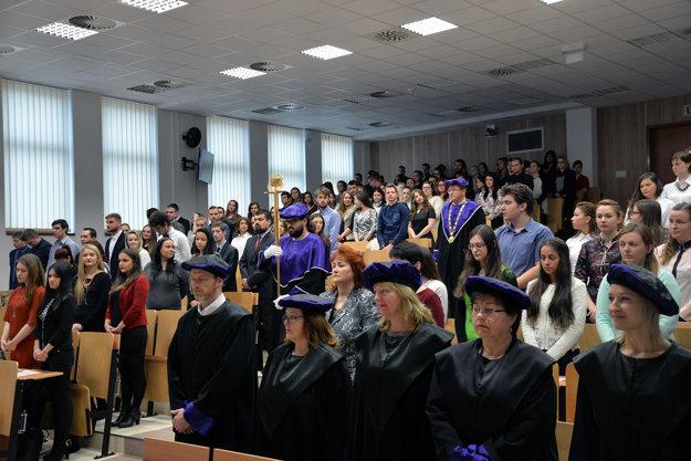 Slávnostná imatrikulácia prvákov na Fakulte manažmentu PU v Prešove