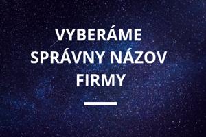 SPRÁVNY NÁZOV FIRMY