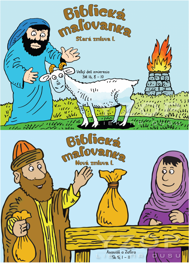 Biblická maľovanka - Stará a Nová zmluva