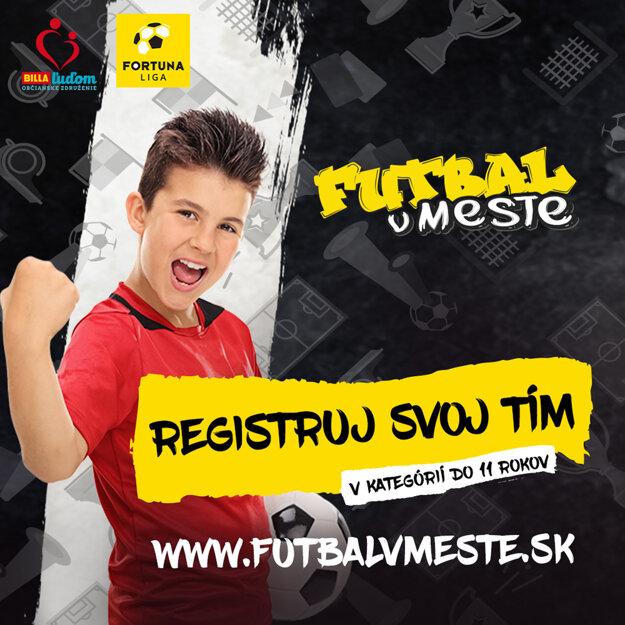 Tímy sa môžu zaregistrovať na www.futbalvmeste.sk