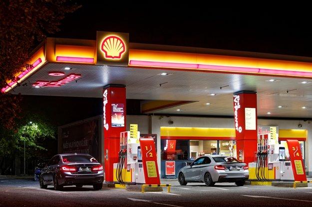 Čerpacia stanica Shell na Rožňavskej ulici v Bratislave