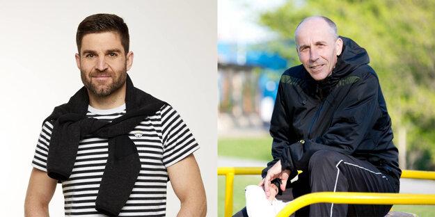 Viktor Bielik (vľavo) a Ivan Gabovič zopakujú svoje workshopy viackrát, aby ich mohli absolvovať aj pristupujúci pasažieri.