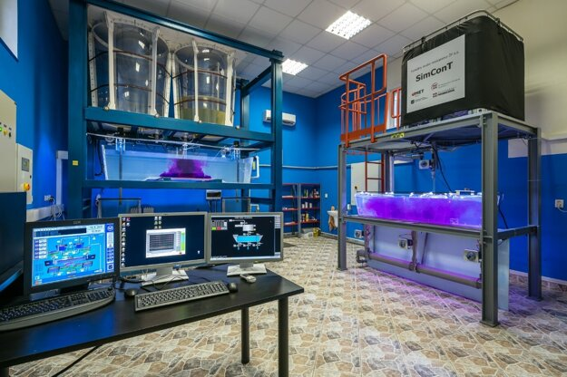 Laboratórium simulácie procesov prúdenia.