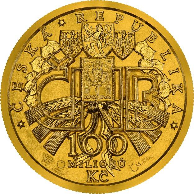 Najväčšia zlatá minca Európy vznikla v Českej mincovni. Má nominálnu hodnotu 100 mil. Kč. Váži 130 kg.