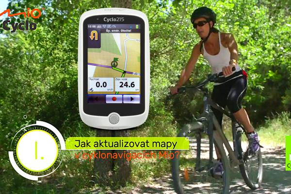 Jak aktualizovat mapy v cyklonavigacích Mio?