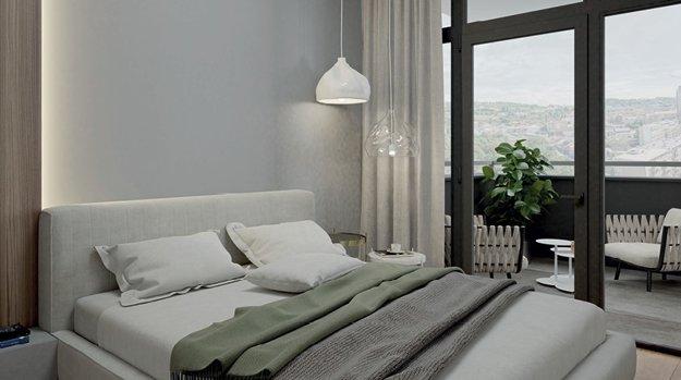 Vysoké stropy a okná krásne presvetlia interiér