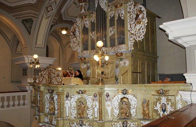 Organ v kostole sv. Mikuláša v Prešove.