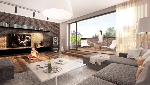 Veľkometrážne bývanie: Byty sú výnimočné svojou veľkorysou rozlohou, v závislosti od ponuky majú aj predzáhradky, lodžie či terasy.