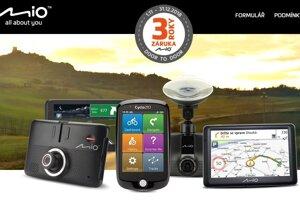 Autokamery Mio a navigace teď s 3letou záruční dobou