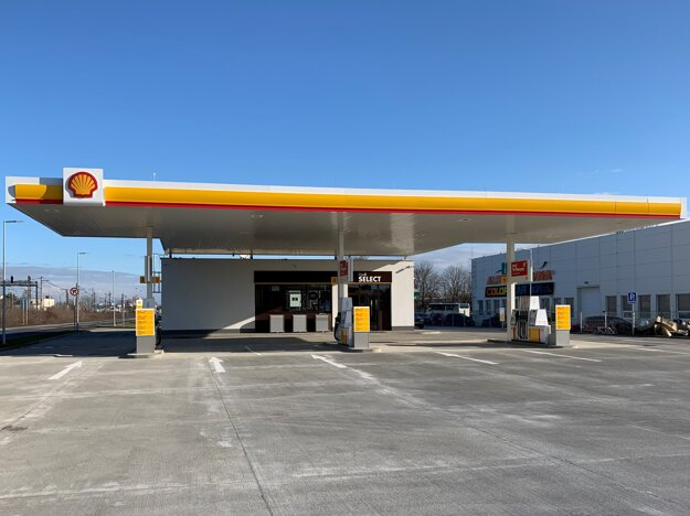 ČS Shell na Dopravnej ulici v Trebišove