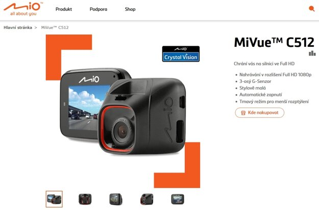 MIOkamery.SK - MiVue C512 autokamera
