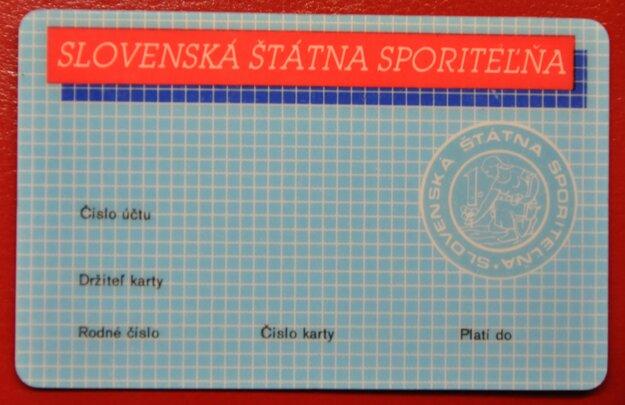 Platobná bankomatová karta Slovenskej štátnej sporiteľne z roku 1989