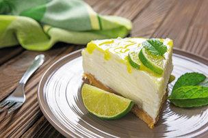 Limetkový cheesecake s mätou