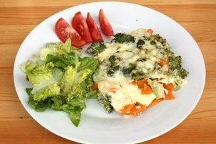Zapekaná brokolica s mrkvou