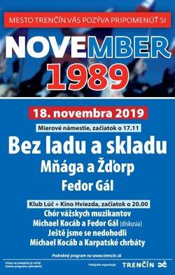Trenčín oslávi 30. výročie Nežnej revolúcie